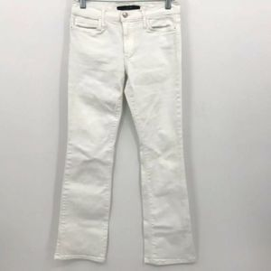 Joe's Jeans Petite Boot Cut Solid White Size 28